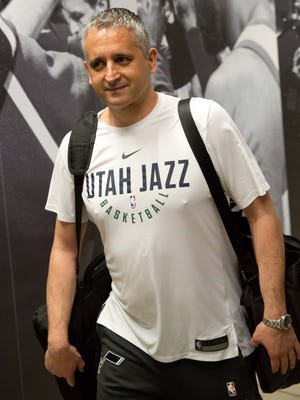 May 4, 2018: Utah Jazz assistant coach Igor Kokoskov arrives at Vivint Smart Home Arena prior to game three of the second round of the 2018 NBA Playoffs against the Houston Rockets.
