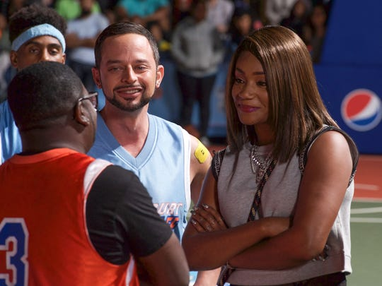 "Mookie (Nick Kroll) and Jess (Tiffany Haddish) in ""Uncle Drew."""