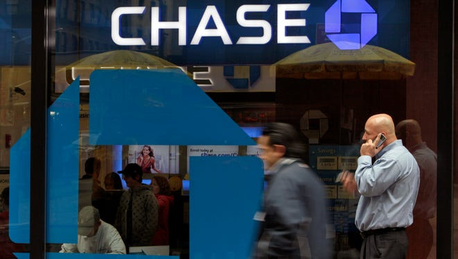 A Chase branch in New York. Chase and Wells Fargo, two of America's biggest retail banks, are quietly taking some callers' voiceprints to fight fraud, an Associated Press investigation has found.