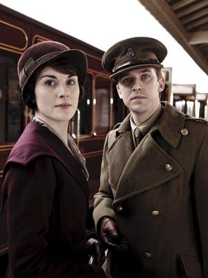 Fans will get to see costumes worn by Lady Mary (Michelle Dockery), left, and Matthew Crawley (Dan Stevens) at 'Downton Abbey: The Exhibition.'