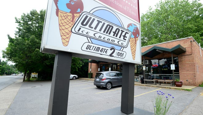 Ultimate Ice Cream is located on Charlotte Street next to Rosebud Video Store.