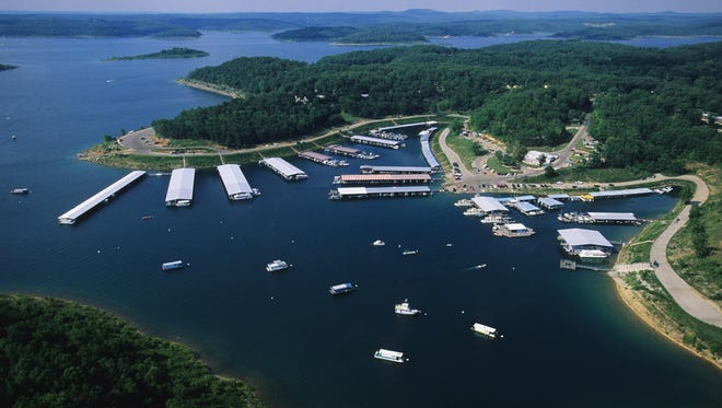 A bird's-eye view of Bull Shoals Lake is shown in this undated file photo.