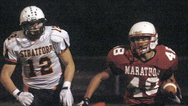 Marathon and Stratford renew a Marawood Conference rivalry Friday. Stratford has won four of the past five regular season matchups, including this game from 2010.