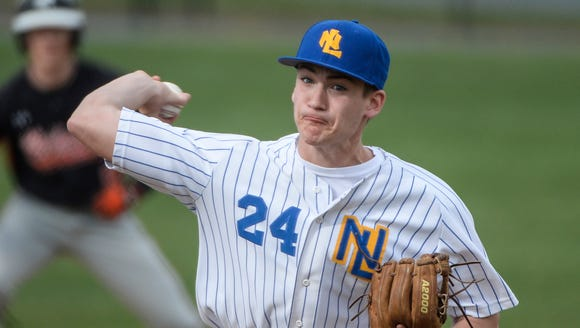 Northern Lebanon's Michigan Daub delivers a pitch as