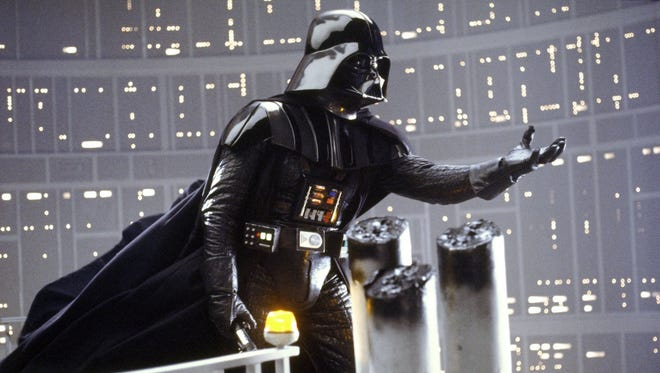 "Darth Vader reaches for Luke Skywalker in scene from ""Star Wars: Episode V — The Empire Strikes Back."" Oscar-winner John Williams wrote the scores for all seven ""Star Wars"" films. Oregon Symphony Association in Salem will present ""Star Wars and More: The Music of John Williams"" at 8 p.m. May 8 at Smith Auditorium, Willamette University."