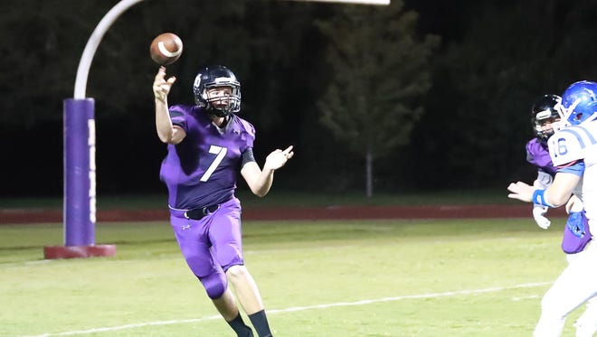 Mission Oak's Seth Logan is making the switch full time from quarterback to wide receiver and linebacker. Logan is one of the few Hawks that will start both ways.