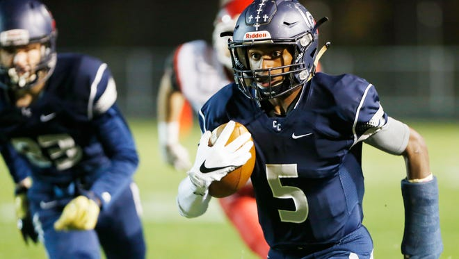 For the second year in a row, Central Catholic's Kavon Clark returned late in the season after an injury during the preseason scrimmage against Frankfort.