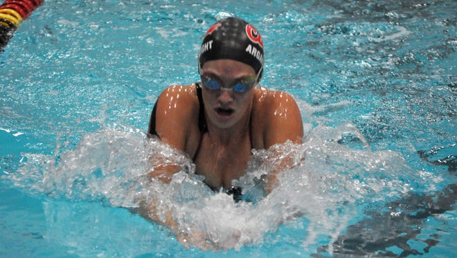 California senior Jade Arganbright, a Central York graduate, will try to earn All-America honors for the second straight season at the NCAA Division II championships next week.