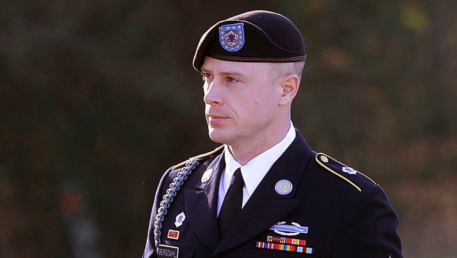 In this Jan. 12, 2016, file photo, Army Sgt. Bowe Bergdahl arrives for a pre-trial hearing at Fort Bragg, N.C.