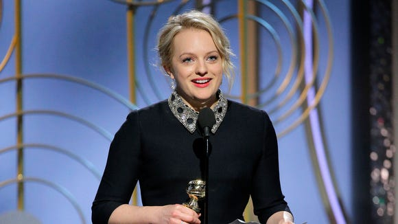 After winning a Golden Globe for 'The Handmaid's Tale,' actress Elisabeth Moss said it was important to have more women involved in TV and film projects.