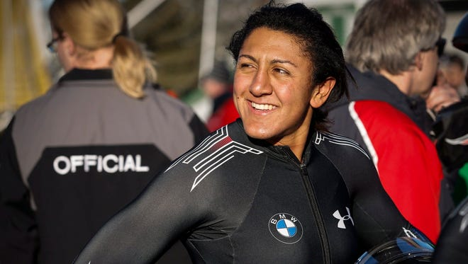 Elana Meyers Taylor of the United States has won silver and bronze medals in the Winter Games.