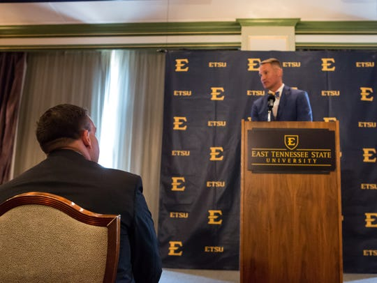 ETSU president Dr. Brian Noland announced a transition