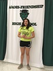 Belizia Rodriguez helped Adams-Friendship to a .500