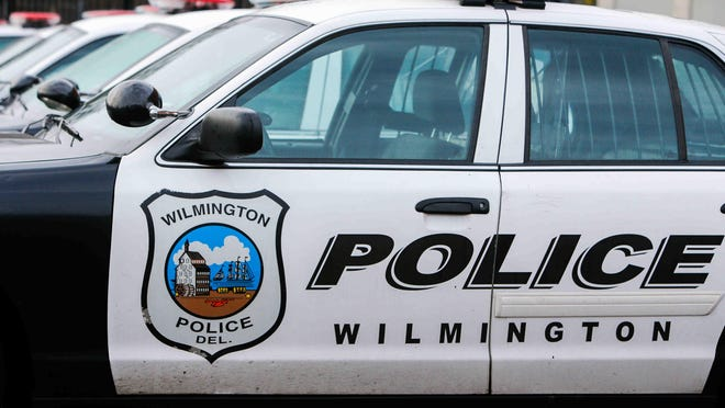 Wilmington police cars at their station on Fourth and Walnut streets in 2014.