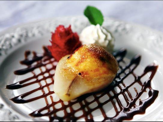 Old Rittenhouse Inn's Poached Pear Créme Brûlée is