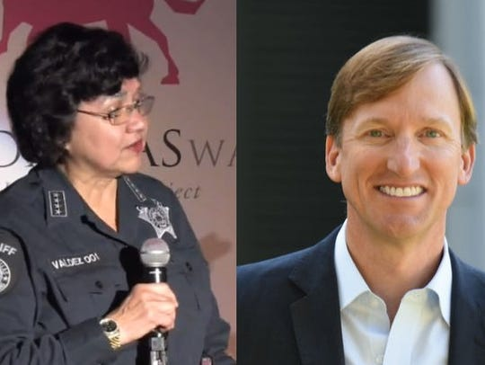 Lupe Valdez and Andrew White
