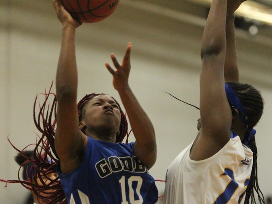 Godby junior Kiara Byrd goes up for a contested layup