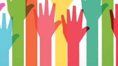 colorful up hand background