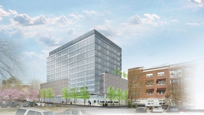 A rendering of the office building Eakin Partners plans at 30th and Vanderbilt Place off West End Avenue.