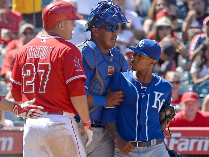 Apr 12, 2015; Anaheim, CA, USA; Kansas City Royals
