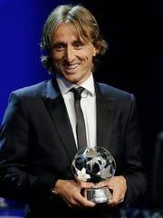 Luka Modric fue elegido el mejor jugador de Europa.