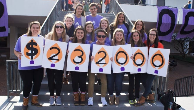 Students at Clemson University revealed the $232,000 fundraising goal for Clemson Miracle on Wednesday afternoon.