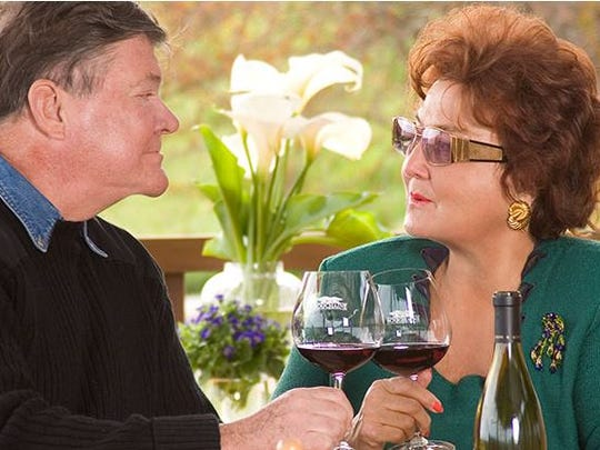 Gerret and Tatiana Copeland at their Bouchaine Vineyards in California, which was ordered to evacuate this week because of wildfires,