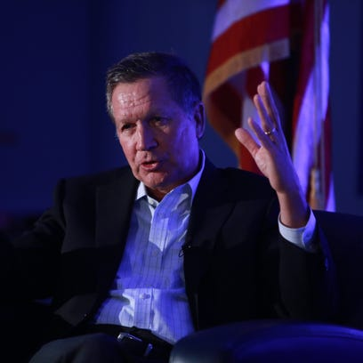 Ohio gov. John Kasich, a Republican candidate for president,
