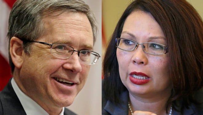 Illinois Republican Sen. Mark Kirk and Democratic Rep. Tammy Duckworth.