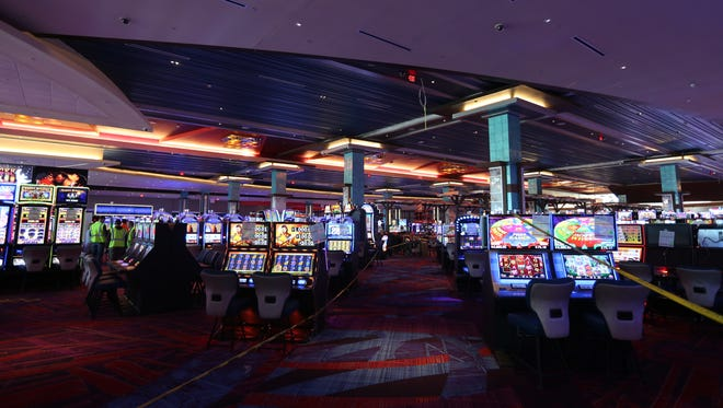 Gaming room at Resorts World Catskills casino, under construction in Monticello Jan. 25, 2018.