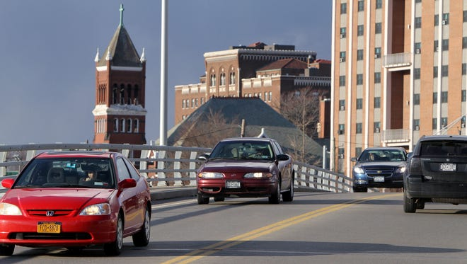 City workers will conduct inspections along the Madison Avenue Bridge in Elmira next week.