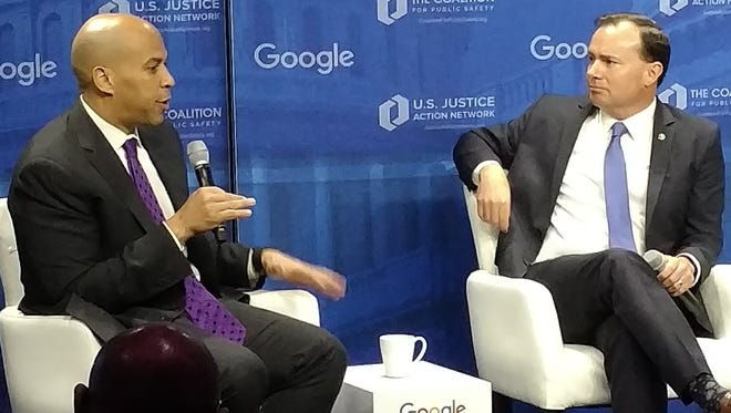 Speaking at a forum on criminal justice reform in December, Sen. Cory Booker said he was worried about how Sen. Jeff Sessions would enforce drug laws.