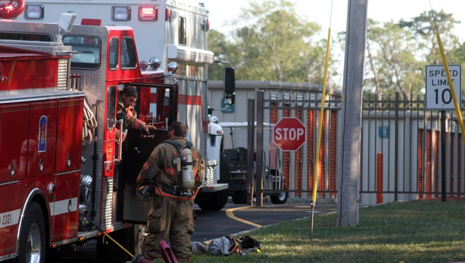 Laurelton firefighters are shown in this 2010 file photo at the scene of a chemical spill at Burnt Tavern Road.