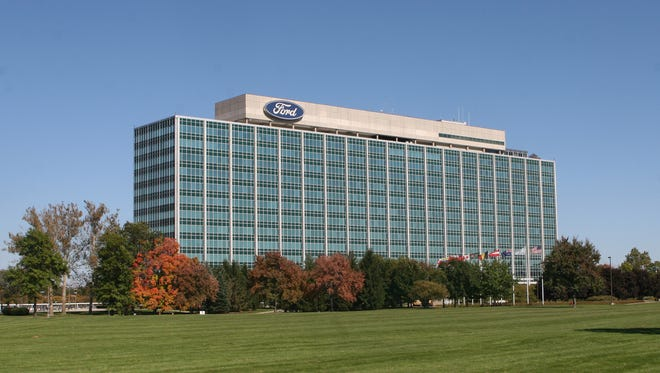 The Ford Motor Company World Headquarters on Michigan Avenue in Dearborn.