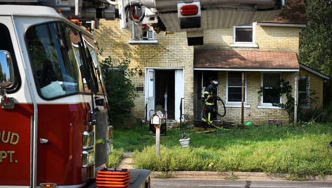 The St. Cloud Fire Department responded to house fire Thursday, Aug. 31, at 103-12th Ave. N.