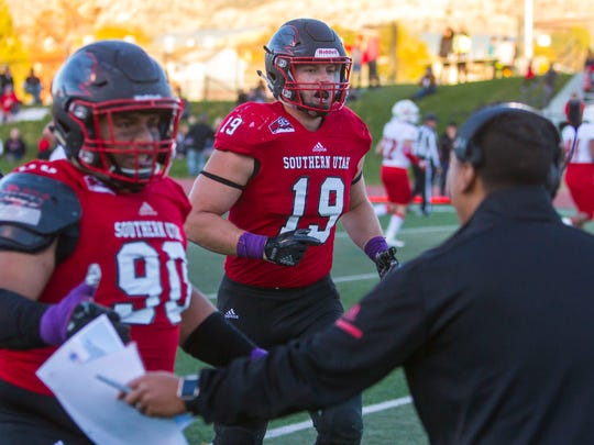 College football: Eastern Washington at Southern Utah, Saturday, October 21, 2017, in Cedar City, Utah. Final score: SUU 46, EWU 28.