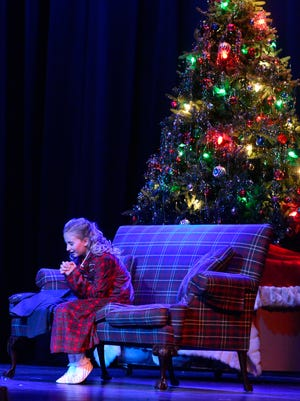 Susan Waverly, portrayed by Payton Lutz, during the dress rehearsal of Irving Berlin's White Christmas  at York Little Theatre Wednesday Nov. 18, 2015.