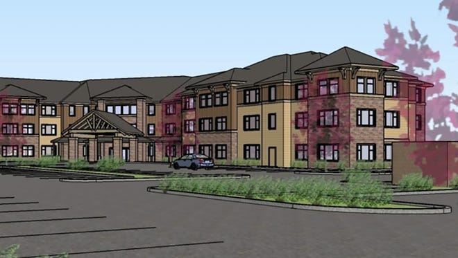 A preliminary rendering of a proposed assisted living center in north downtown Salem.