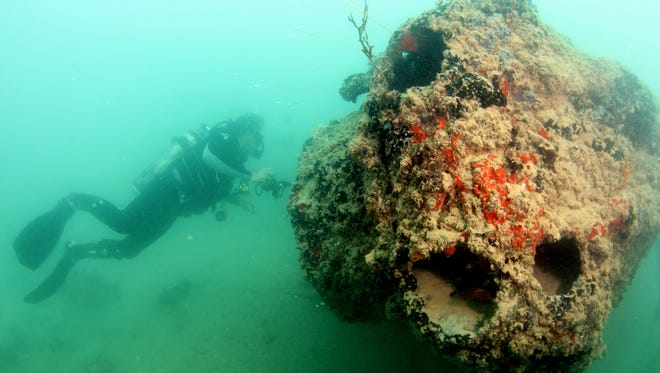 Wreck of a seaplane downed during the Japanese attack on Pearl Harbor. New images of the plane show a coral-encrusted engine and reef fish swimming in and out of a hull.