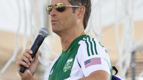 John Harkes, shown here at the 2014 MLS All-Star Game, was offered the Rhinos' coaching job in December of 2004.