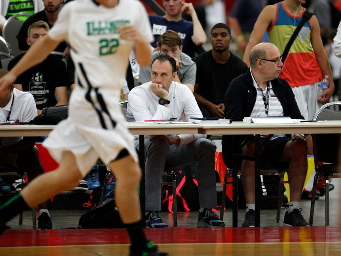 College coaches, recruiting analysts and others watched
