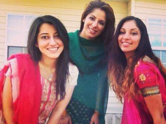 From left to right it's Manreet Sidhu, Simrit Singh and Jasveen Singh enjoy a Girls' Night Out.