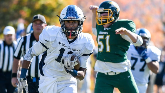 Asheville School senior Rashad Morrison has committed to play college football for Williams (Mass.).