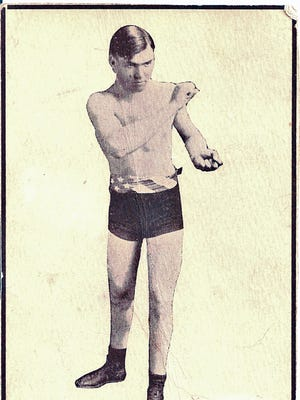 This postcard owned by Reno's Colleen Rosencrantz shows a 19-year-old Jack Dempsey taken in Reno in 1914. He fought three times in Nevada that year, Reno, Goldfield and Tonopah.