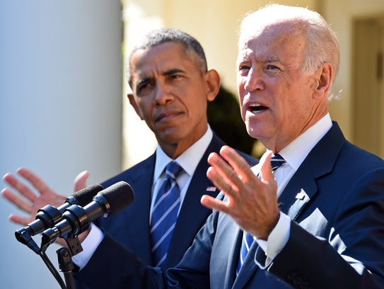 Vice President Biden announces from the White House