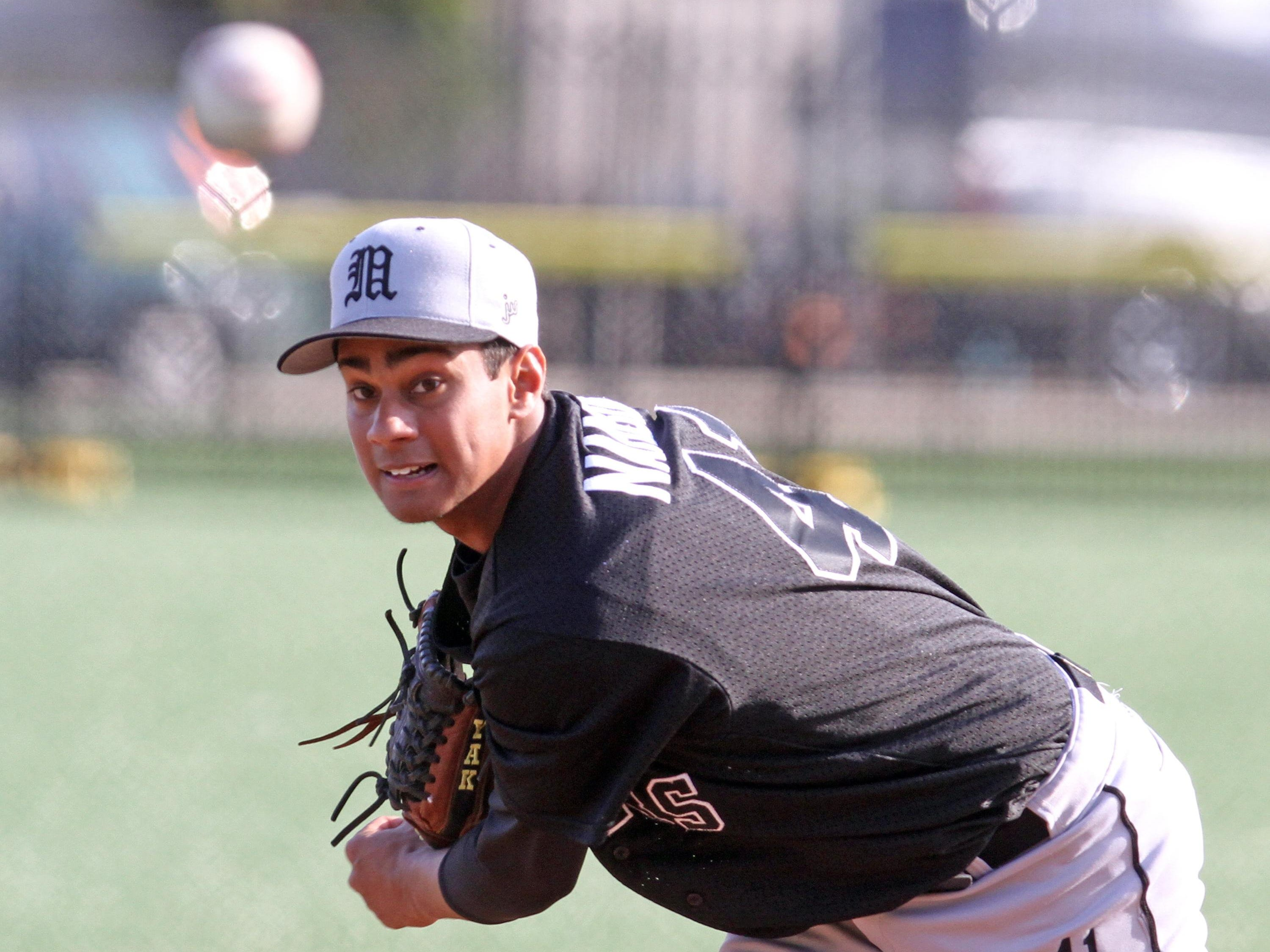 Mamaroneck's Kumar Nambiar was named New York State Class AA baseball player of the year Tuesday, July 14, 2015.