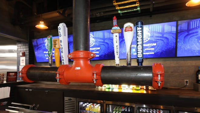 The tap and it's selections of beer at the new AT&T Sports Lounge.