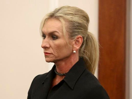 Julie Curtsinger in court for drug charges before arraignment