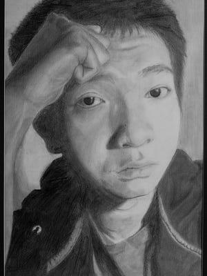 Tou Yang Vue, Self-Portrait, Sheboygan North High School, grade 12.