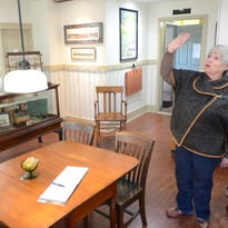 Milford Historical Society Museum Director Elaine Hunter describes some of the updates the museum on Commerce Road has recently undergone.